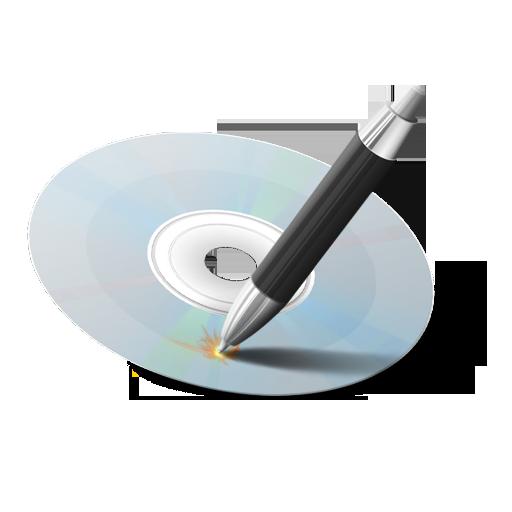 иконки gravure, прожиг диска, диск,