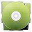 иконка CD avant vert, диск, болванка,