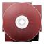 иконки CD rouge, диск, болванка,