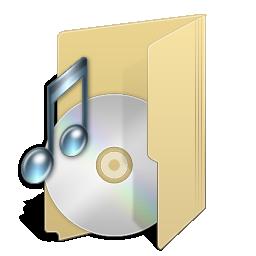 иконки My Music, моя музыка, мои аудиозаписи, папка,
