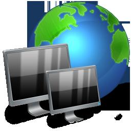 иконки Network, Connection, Control Panel, панель управления, локальная сеть, монитор, интернет,