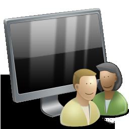 иконки User Computer, пользователь компьютера, монитор,
