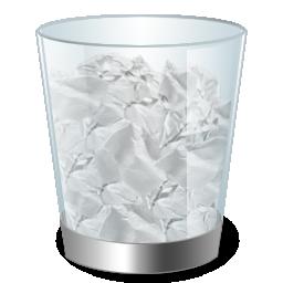 иконка recycle bin full, полная корзина,