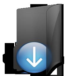 иконки Download Folder, мои загрузки, папка,