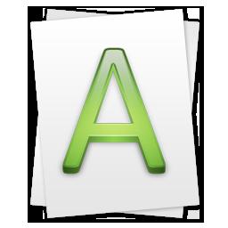иконка Font, шрифт,