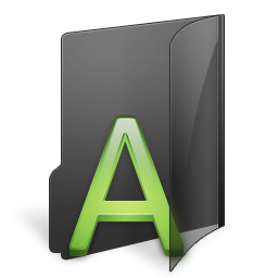 иконки Font, Folder, папка, шрифты,
