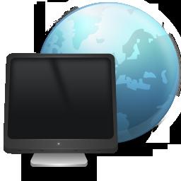иконки My Network Places, сетевое окружение, монитор, интернет,