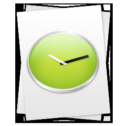 иконки  Recent Documents, рецепт, время, часы, файл,