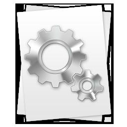 иконки  Settings, File, файл конфигурации,