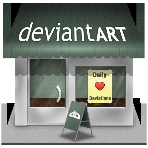 иконка deviantart, девиантарт, девиант, shop, магазин,