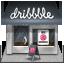 иконка dribbble, магазин, shop,