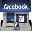 иконка facebook, фейсбук, магазин, shop,