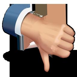 иконки thumbs down, большой палец вниз, плохо,