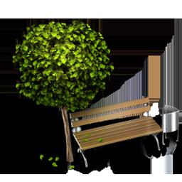 иконки bench, скамейка, парк, отдых, дерево,