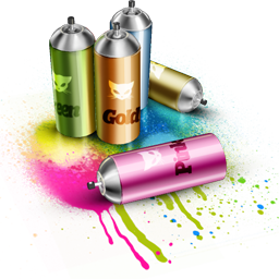 иконки spray, краска, баллончики, граффити,