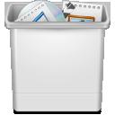 иконка trash full, полная корзина,