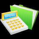 иконка calculator, калькулятор, папка,