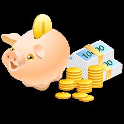 иконка money pig, money, деньги, свинья копилка,