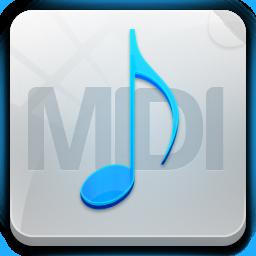 иконки midi, музыка, файл, формат,