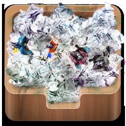 иконки recycle bin full, полная корзина, мусор,