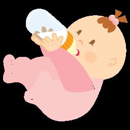 иконки drinking, пьет из бутылочки, пьет, малыш, ребенок, девочка,