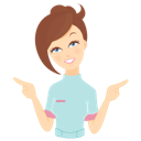 иконки beauty consultant, indicate, консультант, девушка, указывать, показывать,