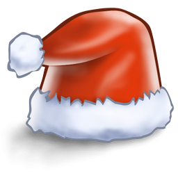 иконка santa hat, новый год, санта, колпак санты,
