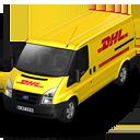 иконки DHL, машина, автомобиль, микроавтобус,
