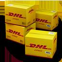 иконки DHL, Shipping, коробки, ящики, коробка, ящик,