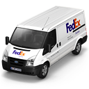 иконки FedEx, машина, автомобиль, микроавтобус,