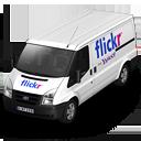 иконки  Flickr, машина, автомобиль, микроавтобус,
