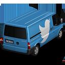 иконки twitter, твиттер, машина, автомобиль, микроавтобус,