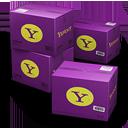иконка Yahoo, Shipping, коробка, коробки, ящик, ящики,