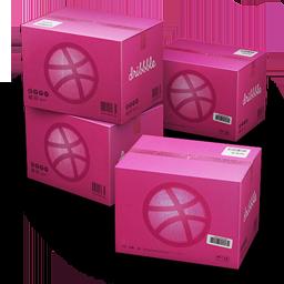 иконка Dribbble, Shipping, коробка, коробки, ящик, ящики,