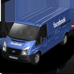 иконка Facebook, машина, автомобиль, микроавтобус,