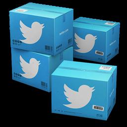 иконки Twitter, Shipping, коробка, ящик, ящики, коробки,