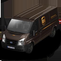 иконки UPS, машина, автомобиль, микроавтобус,