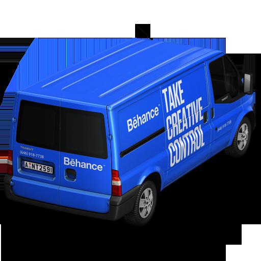 иконка Behance, машина, автомобиль, микроавтобус,