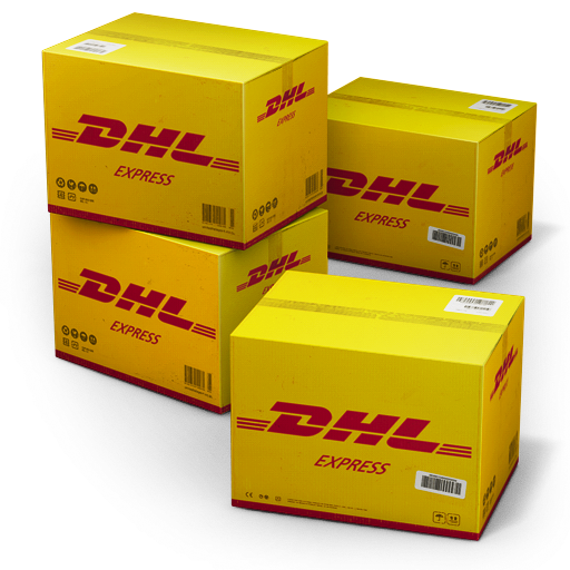 иконка DHL, Shipping, коробки, ящики, коробка, ящик,