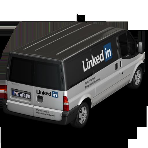 иконка Linkedin, машина, автомобиль, микроавтобус,