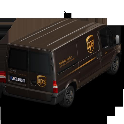 иконка UPS, машина, автомобиль, микроавтобус,
