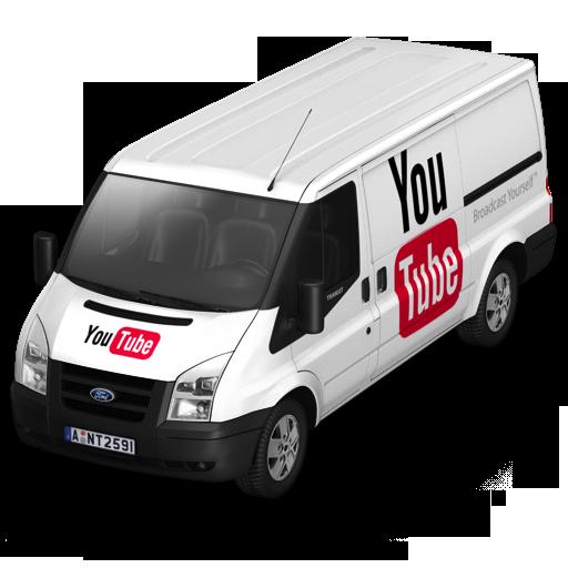 иконки youtube, ютуб, ютюб,  машина, автомобиль, микроавтобус,