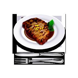 иконки Steak, стейк, мясо, бифштекс, еда,