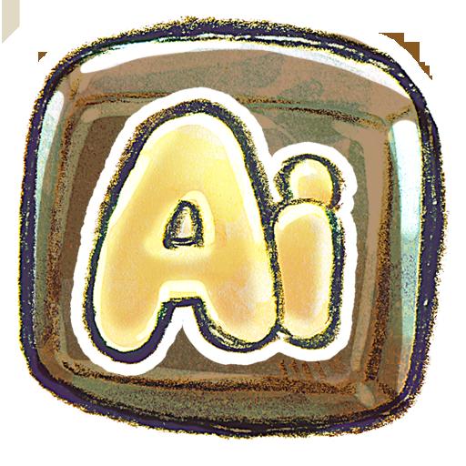 иконки Adobe, Illustrator, иллюстратор,