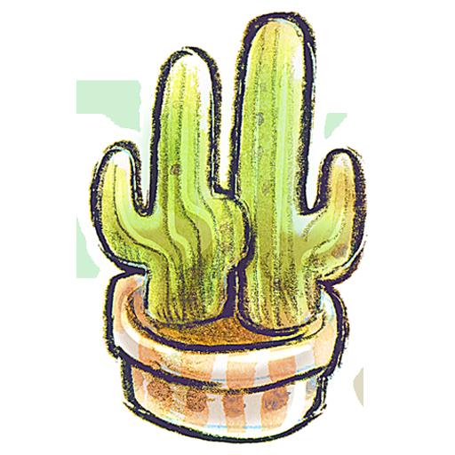 иконка Flowerpot, Cacti, кактус, цветок,
