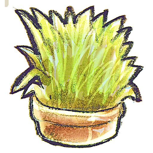 иконки Flowerpot, Grass, цветок, трава,