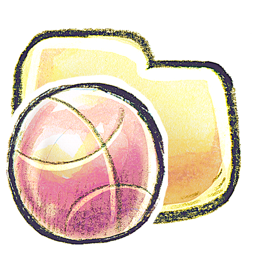 иконки Folder, Basketball, баскетбольный мяч, папка,