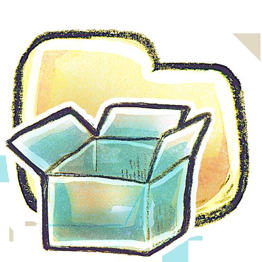 иконки Folder, DropBox, папка,