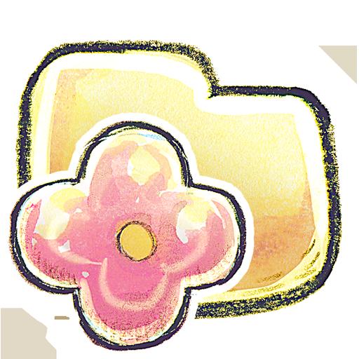 иконки Folder, Flower, папка,