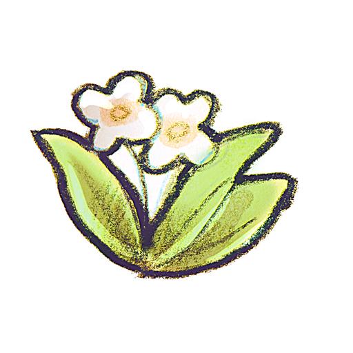 иконки Recycle, цветы,